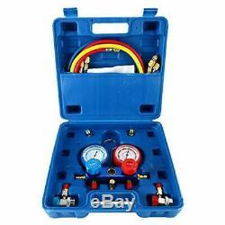 4CFM 1/3HP Rotary Vane Air Vacuum Pump HVAC AC Manifold Gauge Set Leak Detector