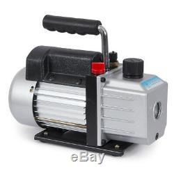 4CFM 1/4hp Air Vacuum Pump HVAC Refrigeration AC Manifold Gauge Set R134a A/C