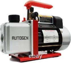 4CFM Air Vacuum Pump HVAC/Auto AC Refrigerant Recharging Manifold Gauge Set