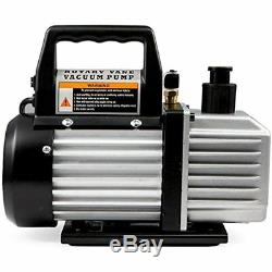 4CFM Vacuum Pumps Air HVAC A/C Refrigeration Kit Manifold Gauge Set With Leak
