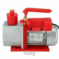 5 CFM 2 Stage 1/2HP Rotary Vane Deep Vacuum Pump HVAC AC Air Tool Wine Degassing