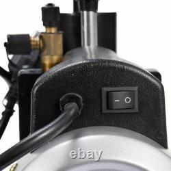 5 CFM Dual Stage Vacuum Pump Rotary Vane 1/2HP Deep HVAC AC Air Tool Black