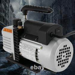 5 CFM Vacuum Pump Rotary Vane 1/3HP HVAC AC Refrigerant Air Conditioning