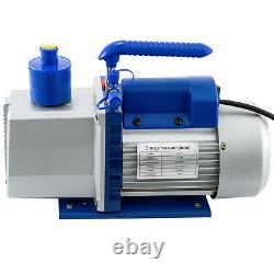 5 Gallon Vacuum Chamber 7CFM Vacuum Pump 2 Stage Air Conditioning Rotary 3/4HP