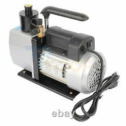 5CFM 1/2HP Air Vacuum Pump HVAC Refrigeration Dual Stage 25 Microns AC Air Tool