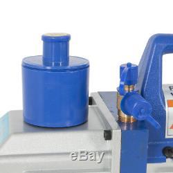 5CFM 1/2HP Vacuum Pump HVAC Refill Manifold Air Condition Dual Gauge R134a A/C