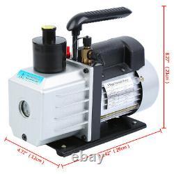 5CFM 1/3HP Air Vacuum Pump HVAC R410A R134A Kit AC A/C Dual Manifold Gauge Set