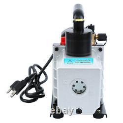 5CFM 1/3HP Combo Air Vacuum Pump HVAC + R134A R410A AC A/C Manifold Gauge Set