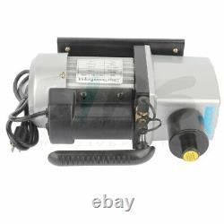 5CFM 2 Stage Vacuum Pump 1/2HP Rotary Vane HVAC Refrigeration Air Conditioning