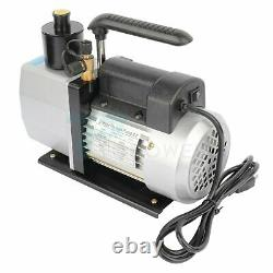 5CFM Air Vacuum Pump 1/2HP HVAC Refrigeration Dual Stage AC Air Tool 25 Microns
