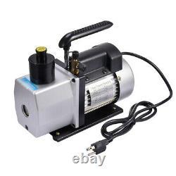 5CFM Vacuum Pump Rotary Refrigerant Air Conditioning Vane 2 Stage 1/2HP HVAC New