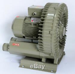 750W Industrial High Pressure Vortex Vacuum Pump 380V Dry Air Blower for Machine