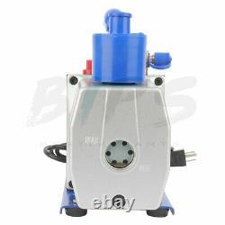 7CFM 1 Stage Vacuum Pump 1/2HP Rotary Vane Deep HVAC AC Air Conditioning Tool