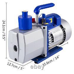 9CFM 2 Stages Vacuum Pump 1HP Air Conditioning R22 R410a Oil capacity R12 R134a