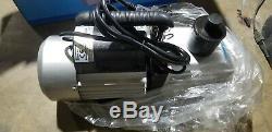 9CFM Rotary Vane Vacuum Pump Air Refrigeration Single Stage 300ml 3/4HP 110V