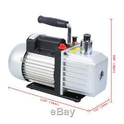9CFM Single Stage Rotary Vane 3/4HP Deep Vacuum Pump Air Refrigeration Tool