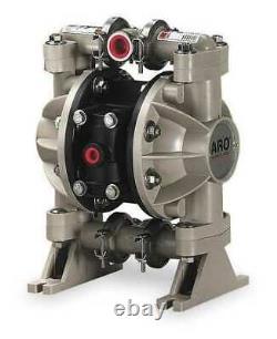 ARO 666053-344 Double Diaphragm Pump, Polypropylene, Air Operated, PTFE, 13 GPM