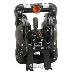 ARO 666100-362-C Double Diaphragm Pump, Aluminum, Air Operated, Nitrile, 35 GPM