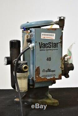 Air Techniques VacStar 40 Dental Vacuum Pump System Suction Unit- FOR PARTS
