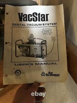 Air Techniques Vacstar 50H Dental Vacuum Pump System Wet Operatory Suction Unit