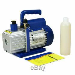 Air Vacuum Pump HVAC 1/4 Rotary Vane Refrigerant AC Manifold Gauge Set R134a Kit