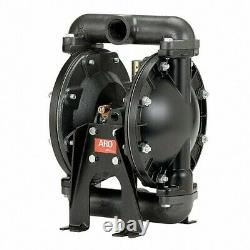 Aro 650717-C Double Diaphragm Pump, Aluminum, Air Operated, Viton, 29 Gpm