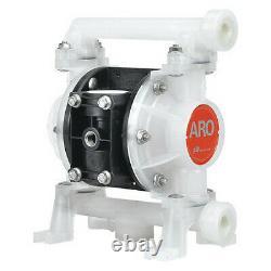 Aro Pd03p-Aps-Paa Double Diaphragm Pump, Polypropylene, Air Operated, Santoprene
