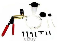 Brake Air Bleeder Vacuum Pump Pressure Tester Fluid Bleeding 2 in 1 Hand Tool
