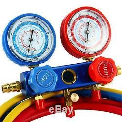 CFM 1/3HP Rotary Vane Air Vacuum Pump HVAC A/C Refrigeration Kit withLeak Detector