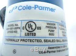 Cole Parmer 420-1901-00FK (07532-40) Air Cadet Dual Head Vacuum Pressure Pump