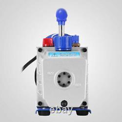 Combo 4 CFM 1/3HP Air Vacuum Pump HVAC + R134A Kit AC A/C Manifold Gauge Set new