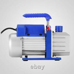 Combo 4 CFM Air Vacuum Pump 1/3HP HVAC + R134A Kit AC A/C Manifold Gauge R134a