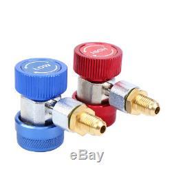 Combo 5CFM 1/3HP Air Vacuum Pump HVAC + R134A AC A/C Dual Manifold Gauge Set R22