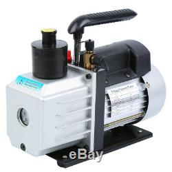 Combo 5CFM 1/3HP Air Vacuum Pump HVAC + R134A Kit AC A/C Dual Manifold Gauge Set