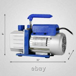 Combo A/C Manifold Gauge Set R134A R410a R22 With 2.5CFM 1/3HP Air Vacuum Pump