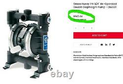 D53331 Graco Husky 716 Air-Operated Double Diaphragm Pump A6S5#3