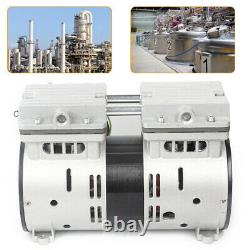 Double-Cylinder Oil Free Oilless Piston Compressor High Flow Vacuum Air Pump