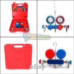 Dual Gauge R134 A/C HVAC Air Condition Tester Manifold 5CFM 1/3HP Vacuum Pump