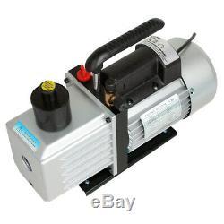 Electric 9 CFM 5Pa 250W 3/4HP HVAC Air Condition Refrigerant Vacuum Pump 300ml
