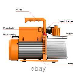 Elitech SVP-7 Rotary Vane AC Air Vacuum Pump 7CFM 2 Stage HVAC Refrigerant 3/4HP