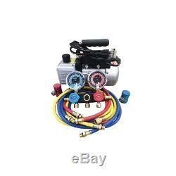 FJ9281YF refrigerant Vacuum Pump & Manifold Gauge Set air conditioning tools