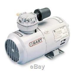 GAST 2HAH-24-M200X Piston Air Compressor/Vacuum Pump, 1/4HP