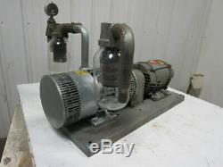 GAST 6066-V107A-T339 55CFM 15PSI 3HP Rotary Vane Oil-Less Vacuum Air Pump 3Ph