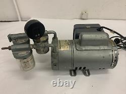 Gast 0522-V725-R32X Air Compressor Type Rotary Vane Vacuum Pump With Fuse Box