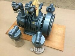 Gast Lubricated Dual Chambered Air Pump Model 10X1040 Max Pressure/Max Vacuum
