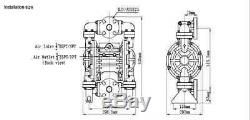 Industrial Chemical Resistant 1 Inch Air Diaphragm Pump