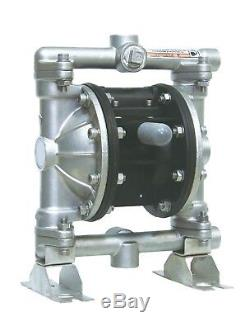 Industrial Chemical Resistant Stainless 1/2 inch Air TF Diaphragm Pump