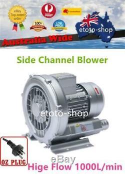 Industrial Side Channel Air Blower Aquaculture or Vacuum Pump 1000L/min