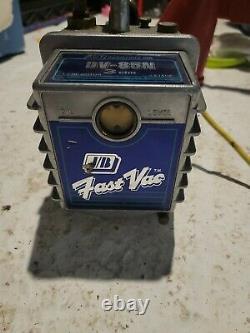 JB Industries 2 Stage Fast Vac DV-85 3CFM 1/3 HP Refrig Air Cond vacuum pump