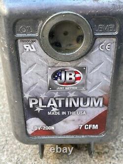 JB Industries DV-200N Platinum 7 CFM Vacuum Pump HVAC Air Conditioning